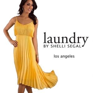 Laundryby Shelli Segal 70S Style Pleaded  Dress 4